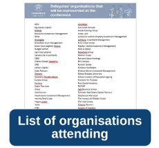 Listing of organisation attending
